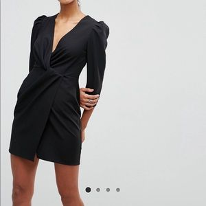 ASOS Wrap Front Mini Dress
